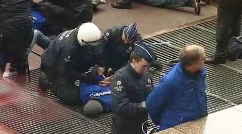 Protest Greenpeace před Radou EU