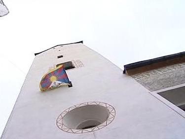 Tibetská vlajka ve Vimperku
