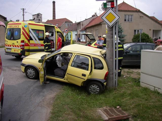 Záchranáři u tragické nehody