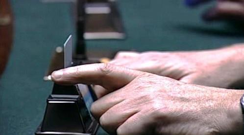 Hlasování v italském parlamentu