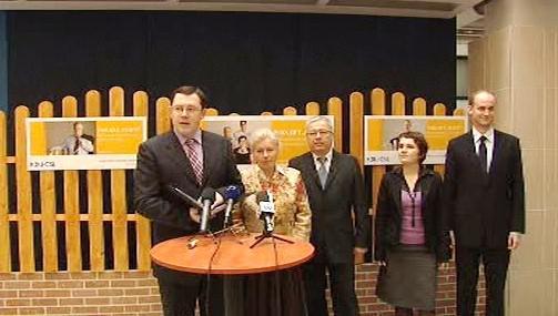 Lidovci představili kampaň pro eurovolby