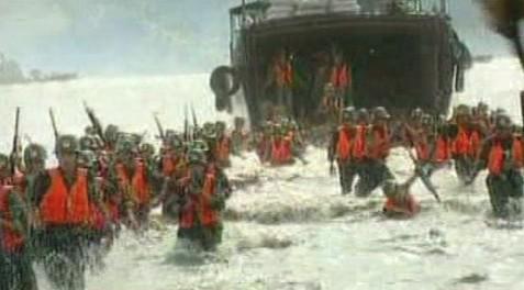 Cvičení čínské armády