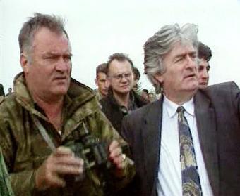 Ratko Mladić a Radovan Karadžić