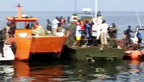 Záchranná akce na Viktoriině jezeře