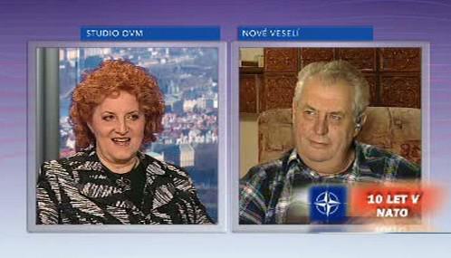 Vlasta Parkanová a Miloš Zeman v OVM