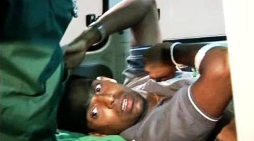 Zraněný srílanský hráč kriketu