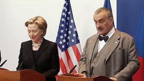 Hillary Clintonová a Karel Schwarzenberg