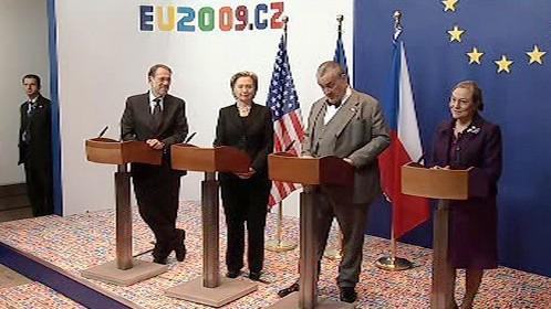 Brífink po jednání trojky EU-USA
