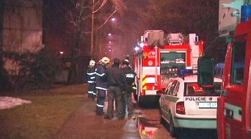 Zásah policie a hasičů