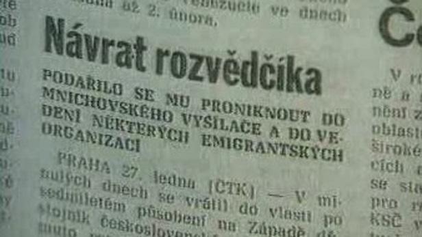 Novinový článek o návratu Minaříka do ČR