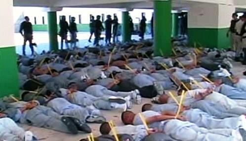 Potlačená vzpoura ve věznici v Juarézu