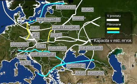 Plynovody v Evropě