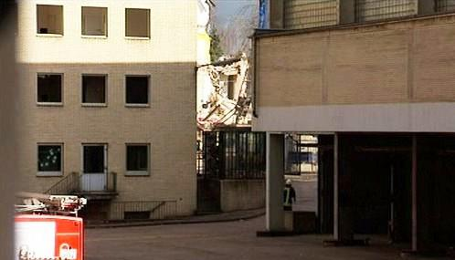 Zřícená budova archivu v Kolíně nad Rýnem