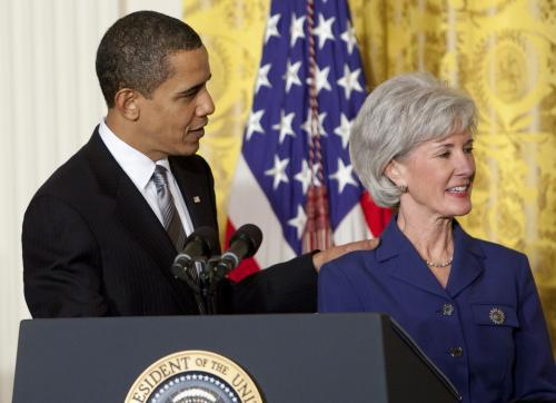 Barack Obama a Kathleen Sebeliusová