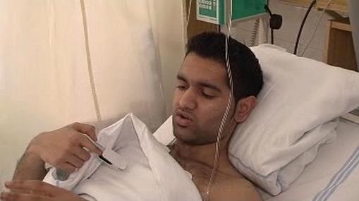 Zraněný student