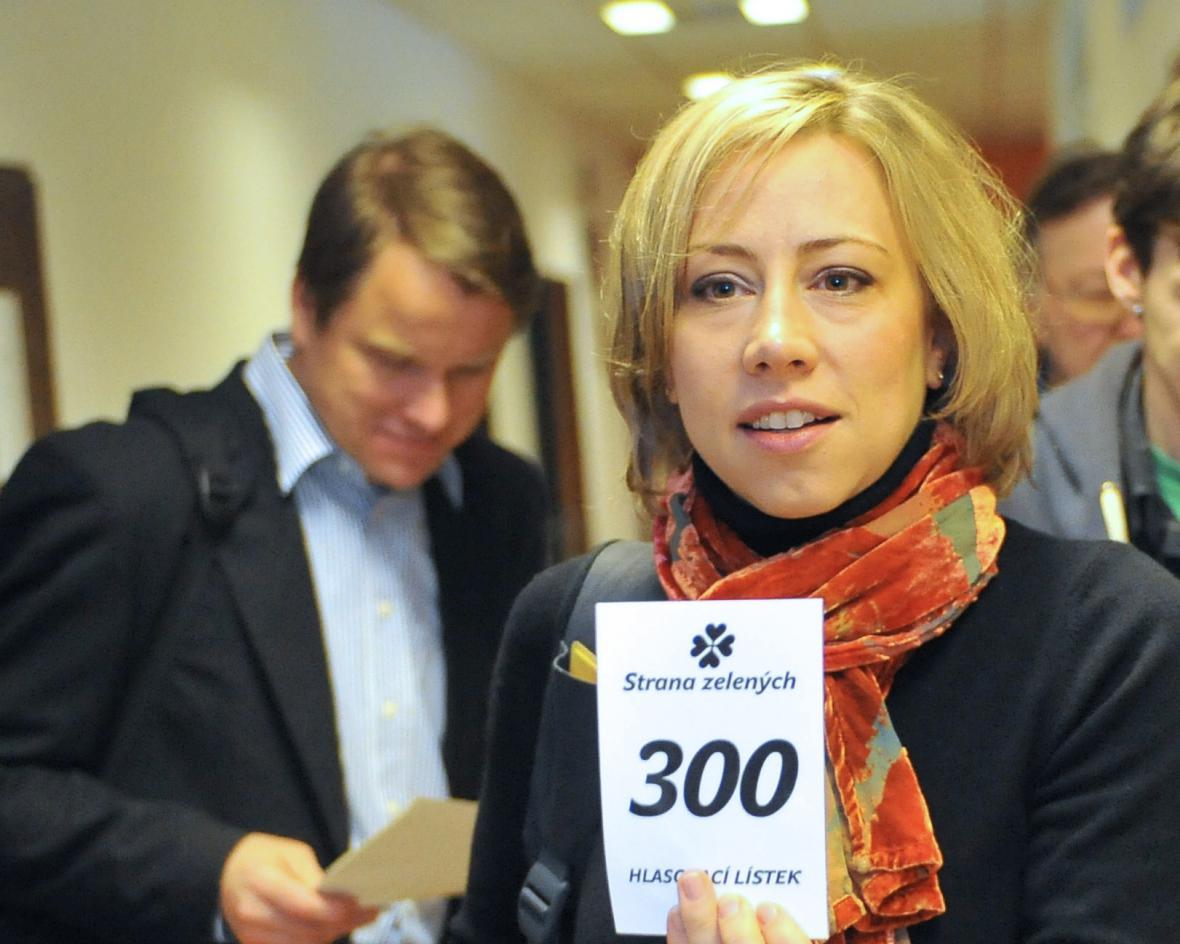 Kateřina Jacques na sjezdu republikové rady Zelených