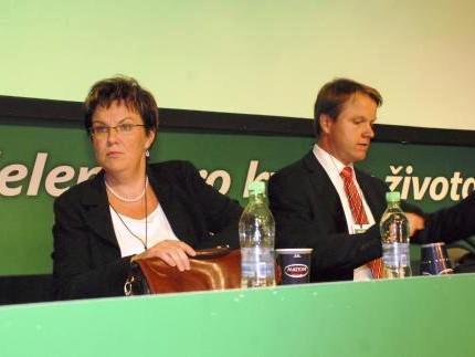 Dana Kuchtová a předseda strany Martin Bursík