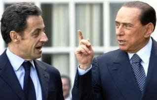Sarkozy a Berlusconi