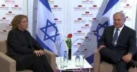 Cipi Livniová a Benjamin Netanjahu