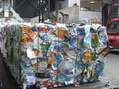 Balíky s odpadem