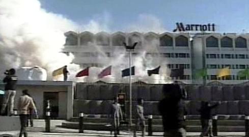 Požár v hotelu Marriot