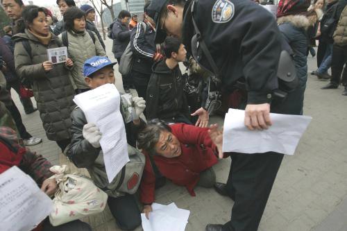 Střety demonstrantů s policisty