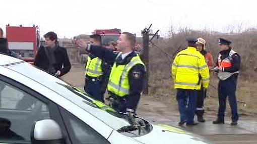 Záchranné jednotky u nehody letadla