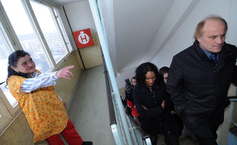 Ministr Kocáb na litvínovském sídlišti