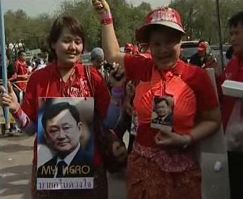 Thajské demonstrantky