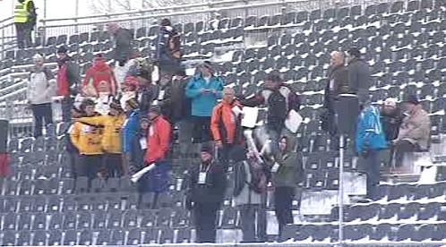 Fanoušci na stadionu