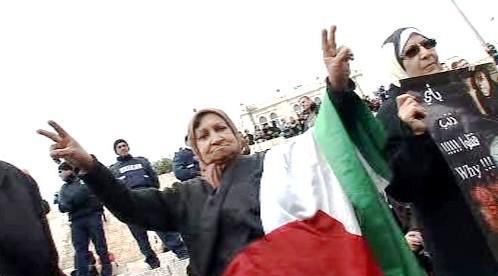 Demonstrace palestinských žen