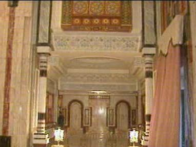 Interiér muzea v Bagdádu