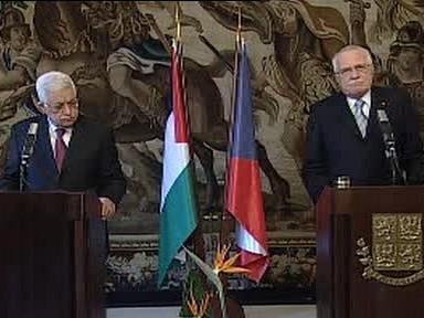 Mahmúd Abbás a Václav Klaus