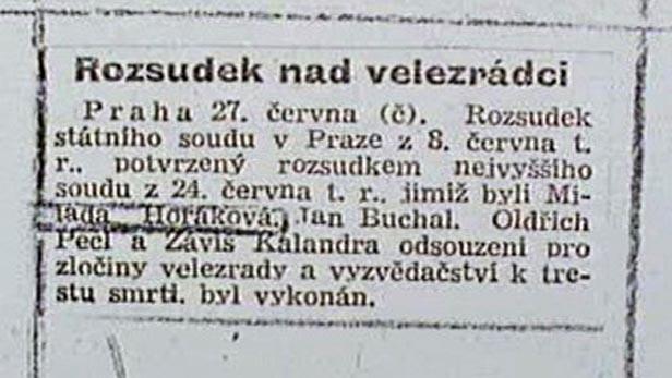 Rozsudek nad Horákovou