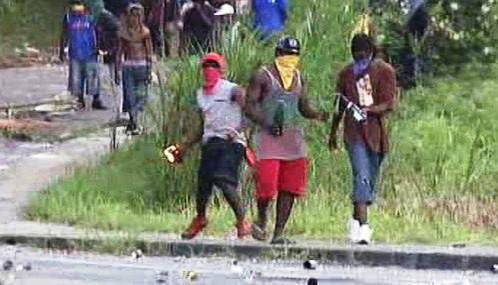 Demonstrace na Guadeloupe