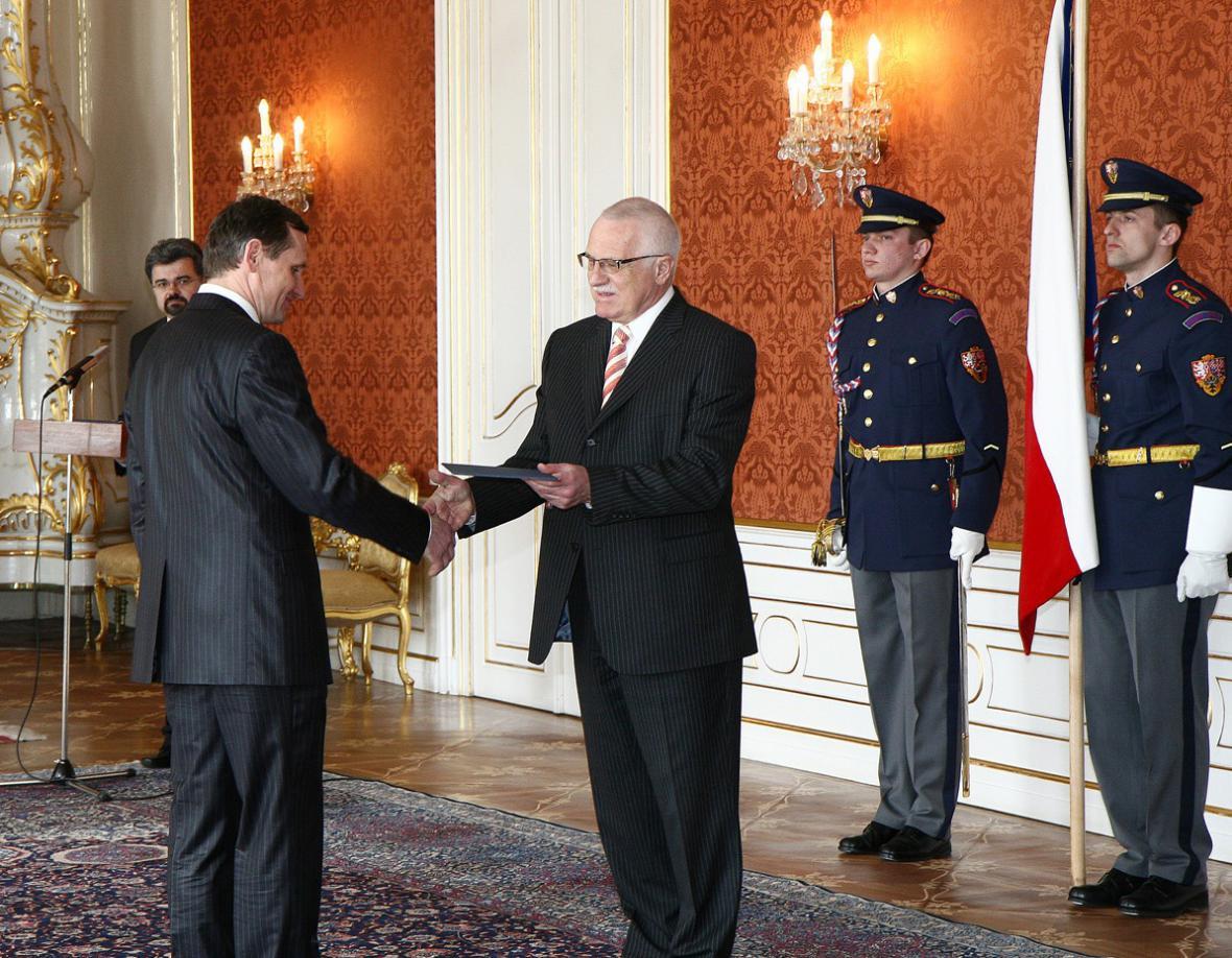 Slavnostní jmenování Jiřího Čunka