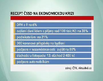 Protikrizový balíček z pera ČSSD