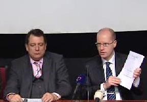 Bohuslav Sobotka a Jiří Paroubek