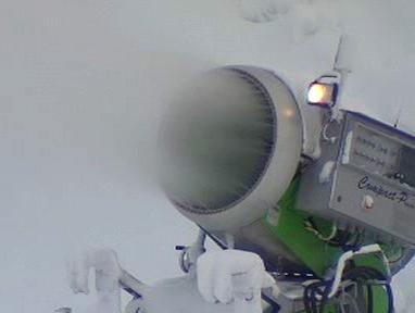 Sněžné dělo ve Vesci