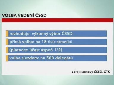 Způsoby volby vedení ČSSD