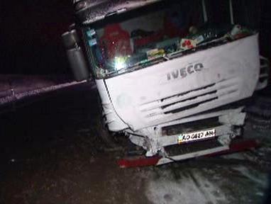 Havarovaný ukrajinský kamion