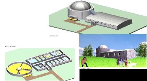 Vizualizace observatoře na Myslivně