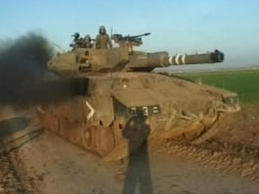 Izraelský tank v Gaze