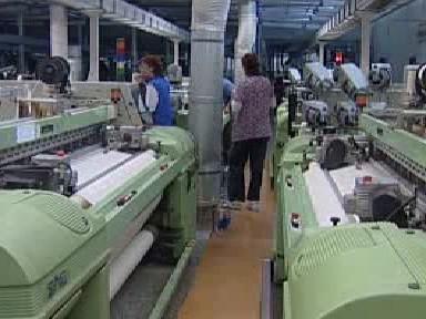 Výrobní hala textilky Perla a.s.