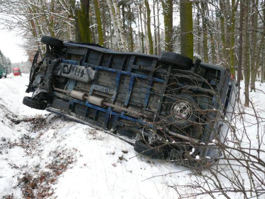 Ford Transit po nehodě