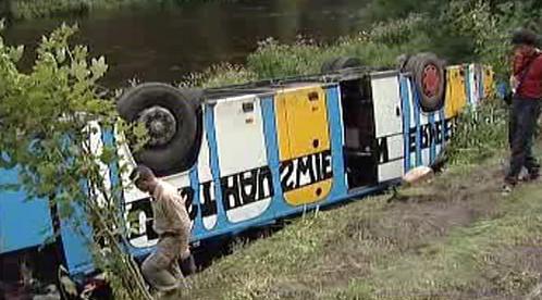 Nehoda rakouského autobusu