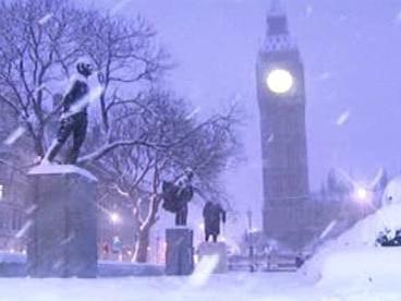 Sníh v Londýně