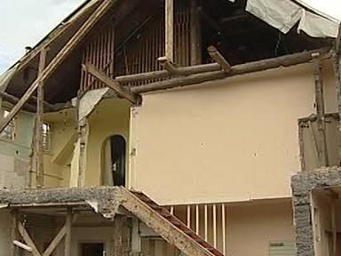 Dům po výbuchu