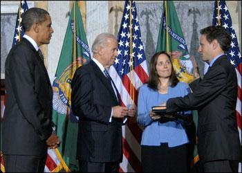 Nástup Timothy Geithnera do úřadu