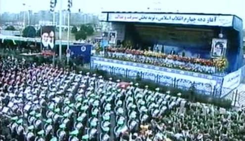 Ahmadínežád na oslavách islámské revoluce